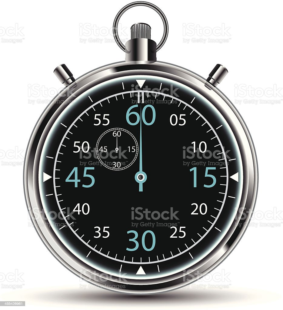 Stopwatch royalty-free stock vector art