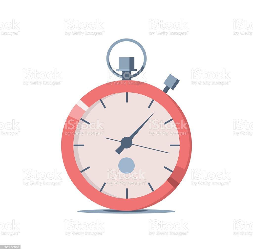 stopwatch vector art illustration