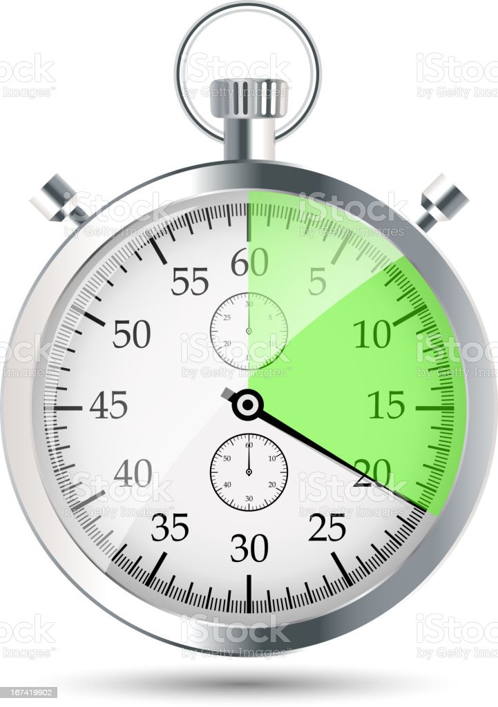 stopwatch vector illustration royalty-free stock vector art