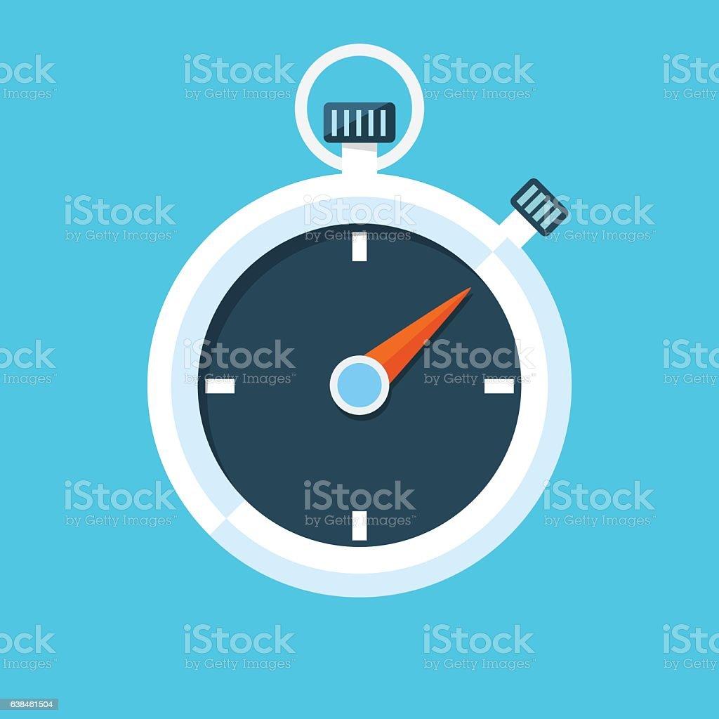 Stopwatch vector illustration. vector art illustration