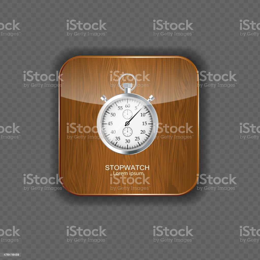 Stopwatch wood application icons vector illustration royalty-free stock vector art