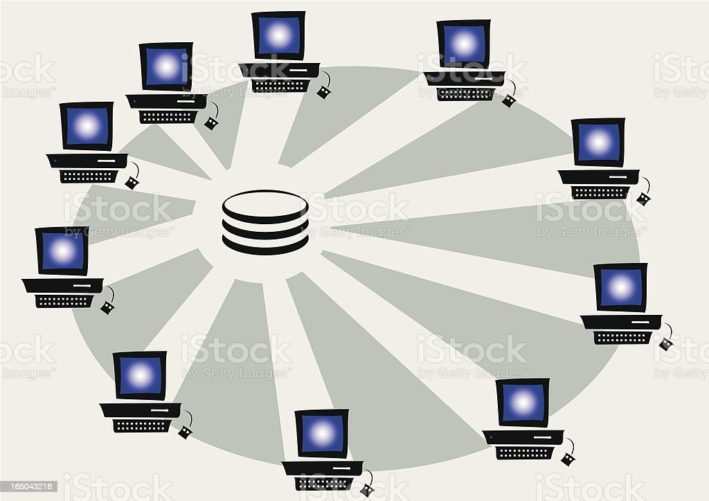 Storage area network royalty-free stock vector art