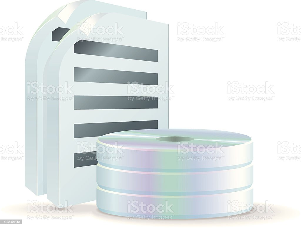 CD Storage Icon - Documents royalty-free stock vector art