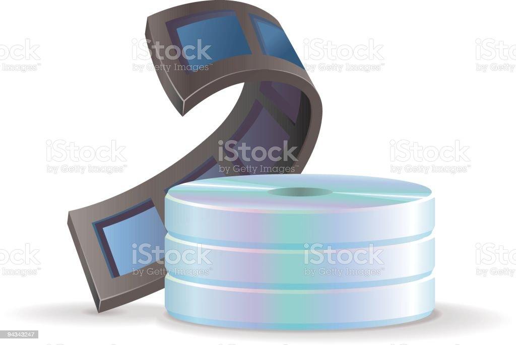 CD Storage Icon - Movies royalty-free stock vector art