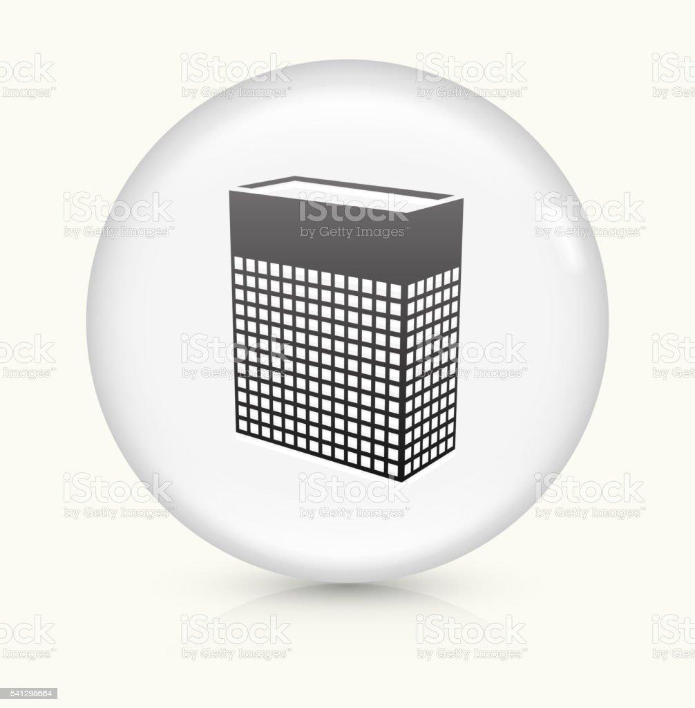 Storage icon on white round vector button vector art illustration