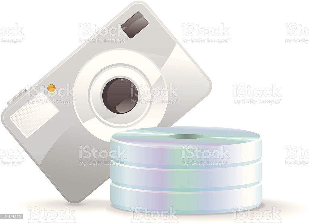 CD Storage Icon - Photos royalty-free stock vector art