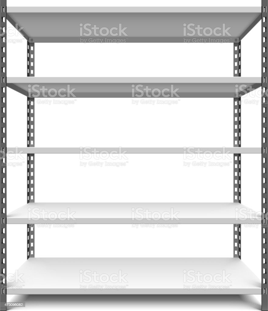 Storage shelf vector art illustration