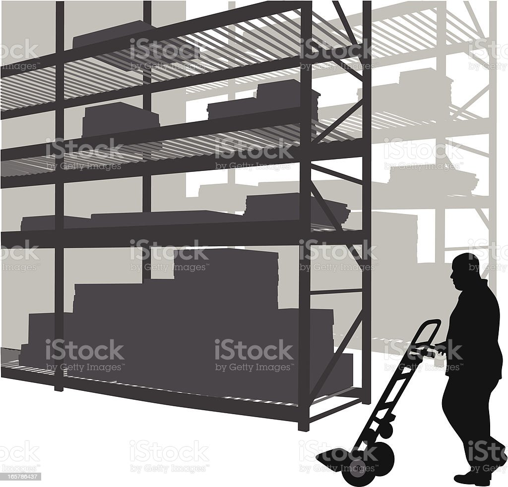 Storage Vector Silhouette royalty-free stock vector art