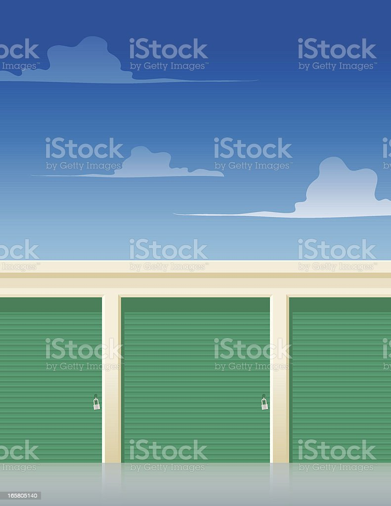 Storages vector art illustration
