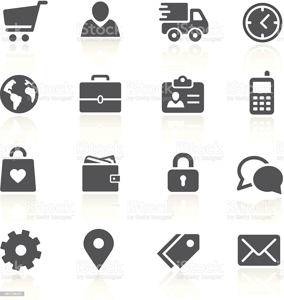 Store Account Management vector art illustration