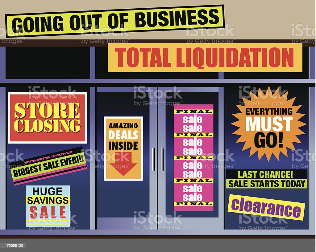 Store Closing Signs C royalty-free stock vector art