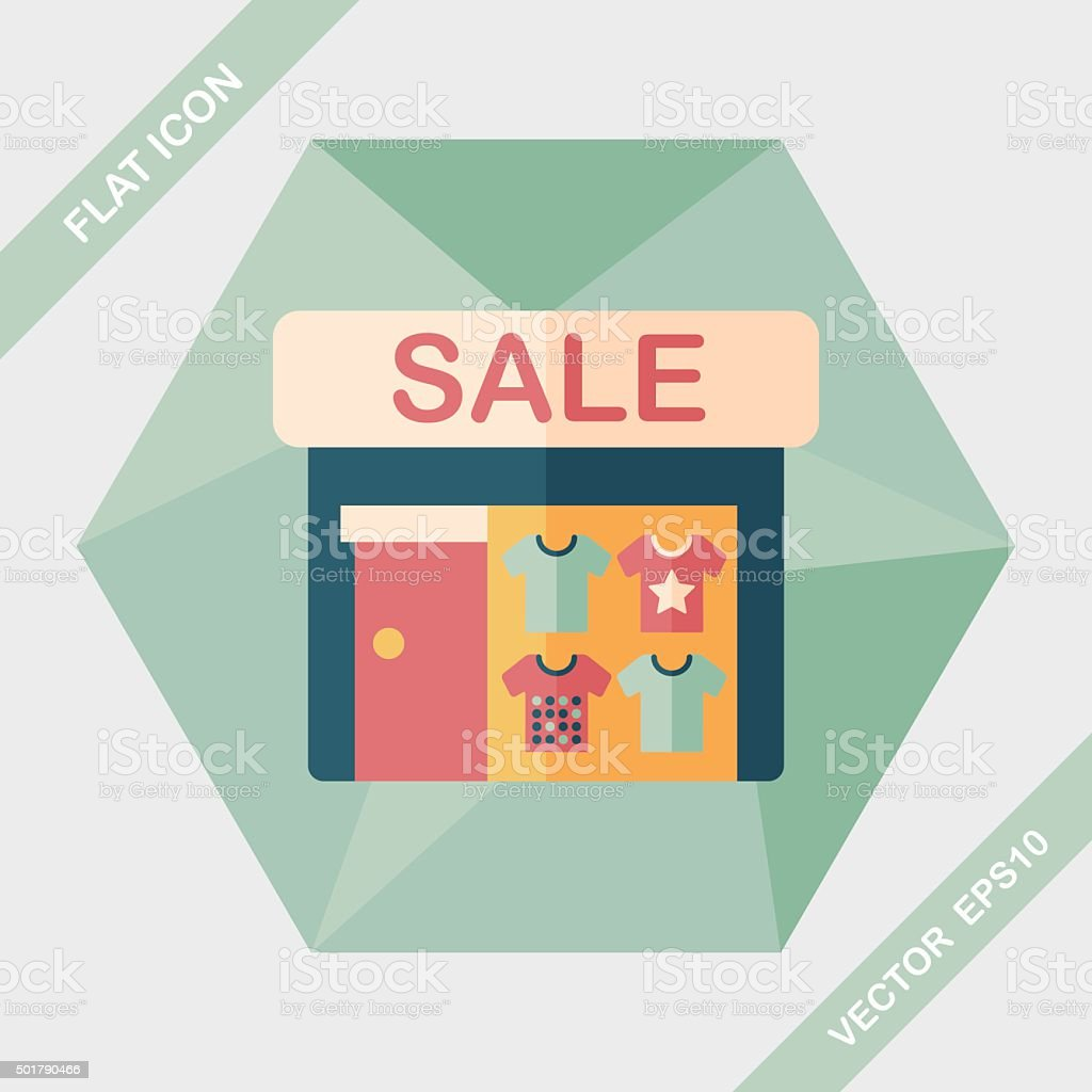 SALE store flat icon with long shadow,eps10 vector art illustration
