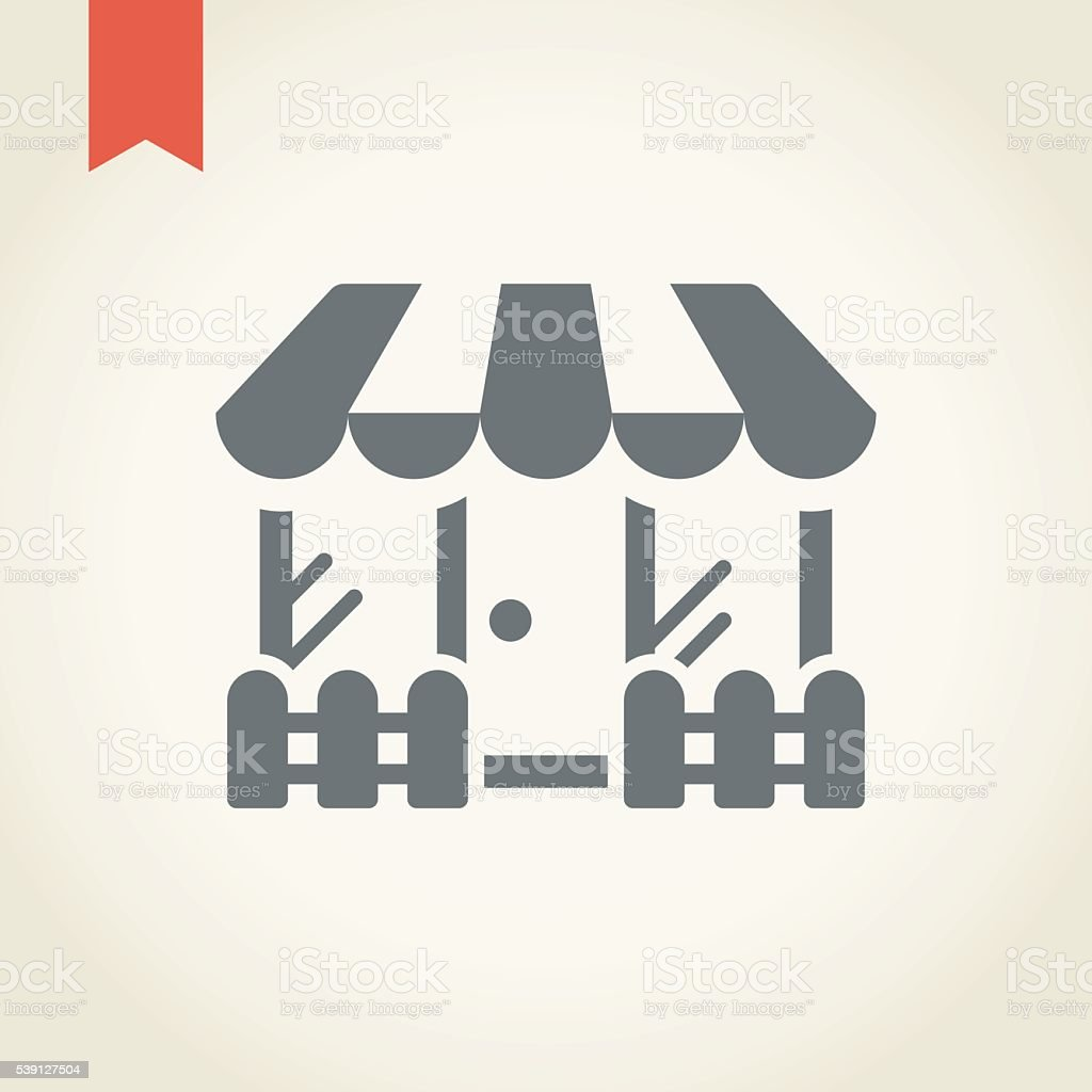 Store icon vector art illustration