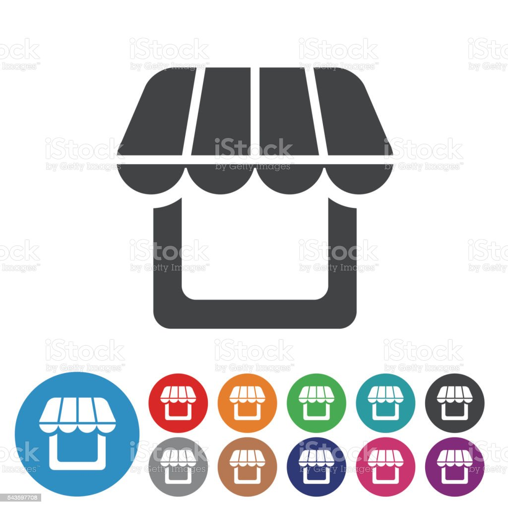 Store Icons - Graphic Icon Series vector art illustration