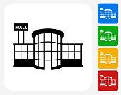 Store Plaza Icon Flat Graphic Design