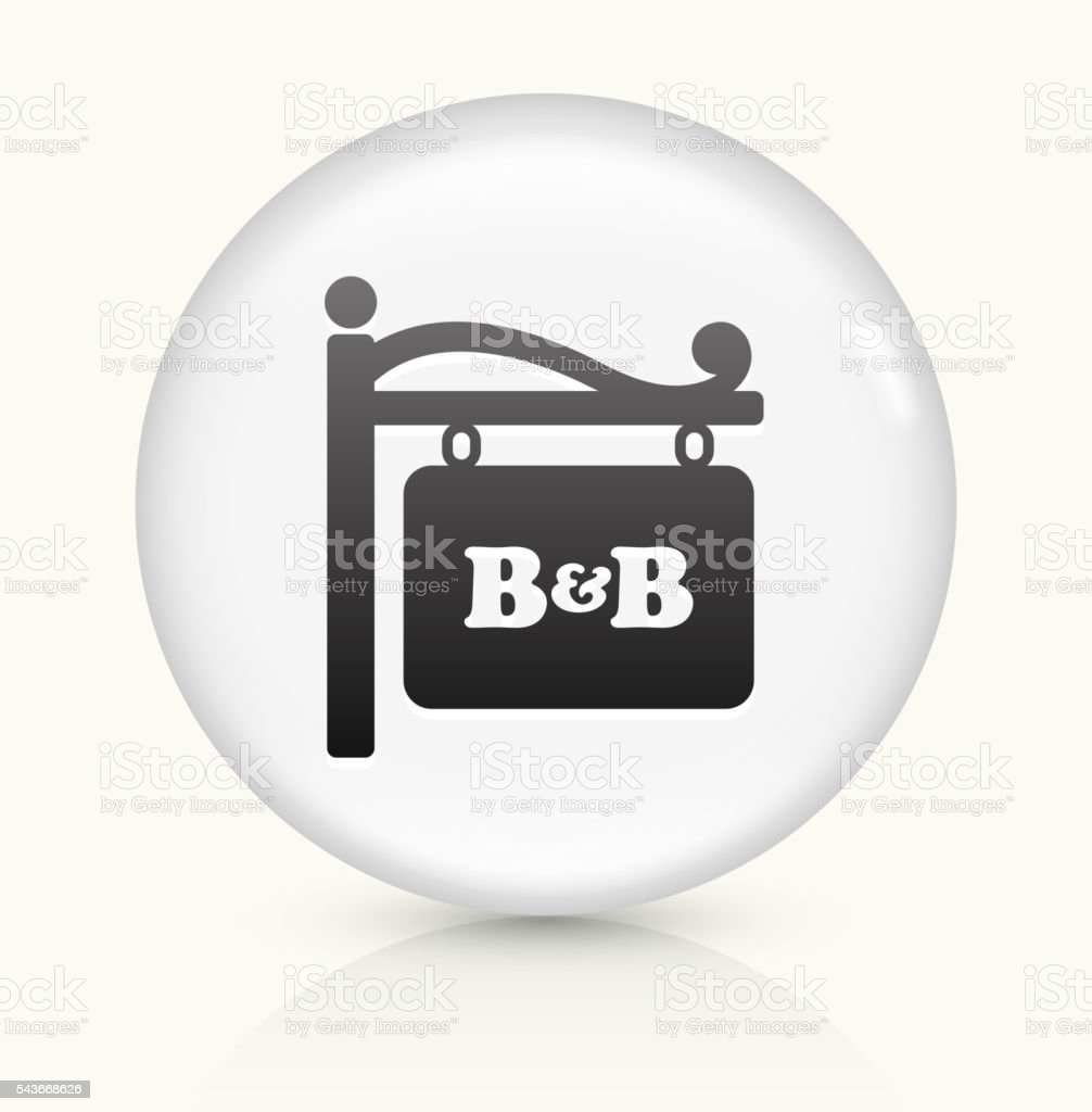 Store Sign icon on white round vector button vector art illustration