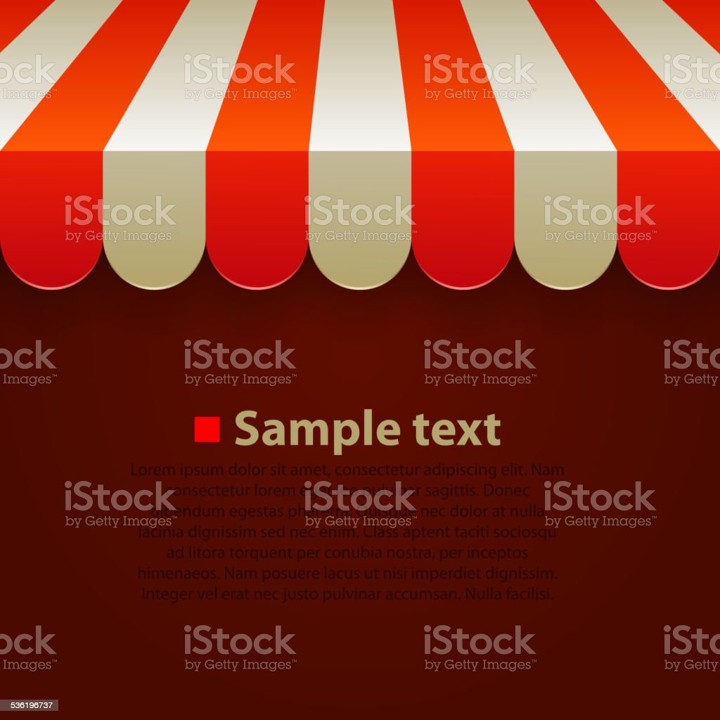 Store striped awning background vector art illustration