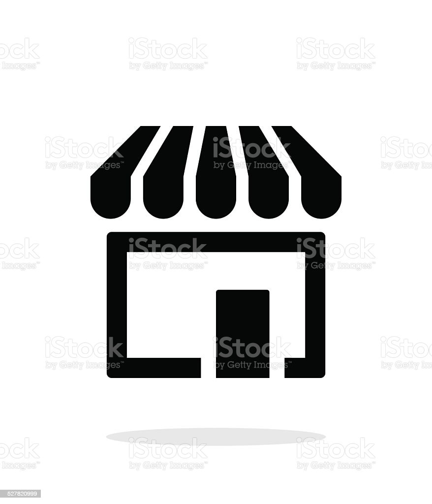 Store, supermarket icon on white background. vector art illustration