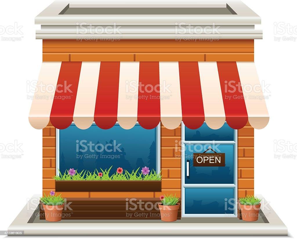 Store vector art illustration