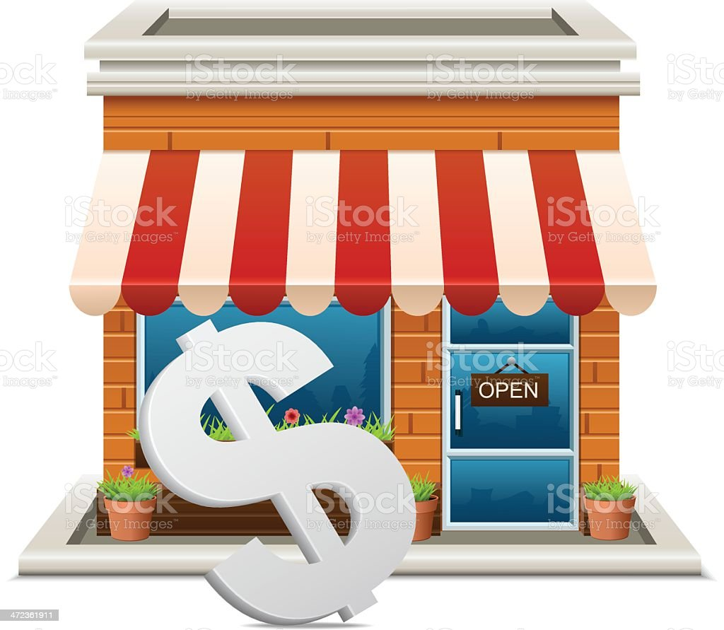 Store with dollar sign royalty-free stock vector art
