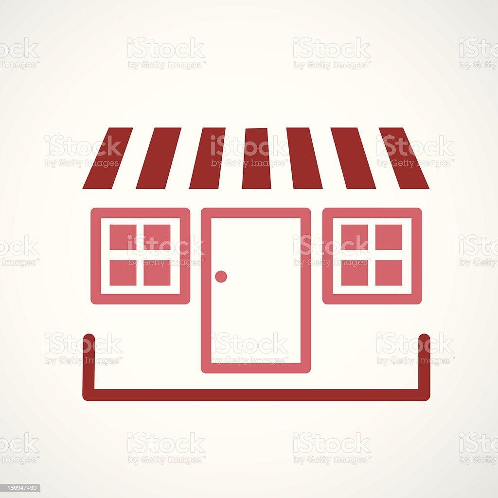 storefront icon royalty-free stock vector art