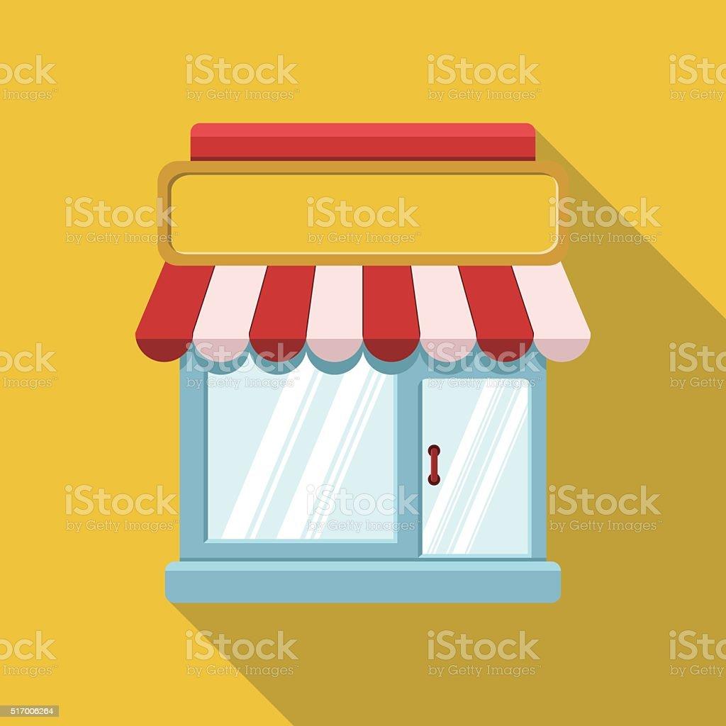Storefront Icon vector art illustration