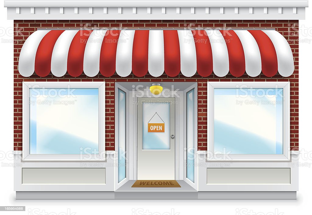 Storefront vector art illustration