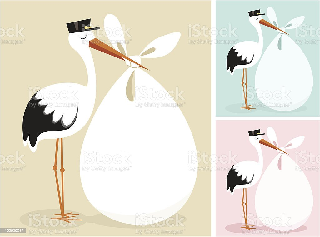 Stork vector art illustration