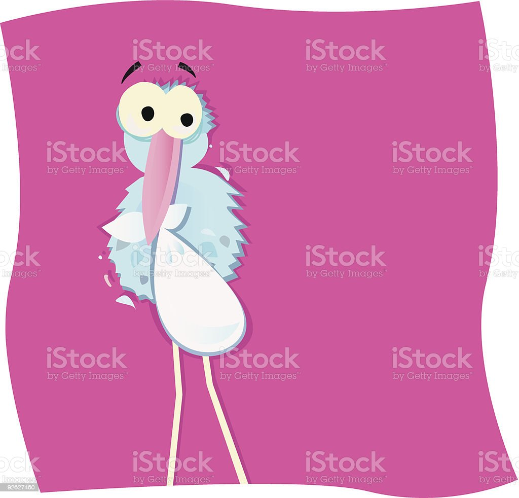 Stork with child royalty-free stock vector art