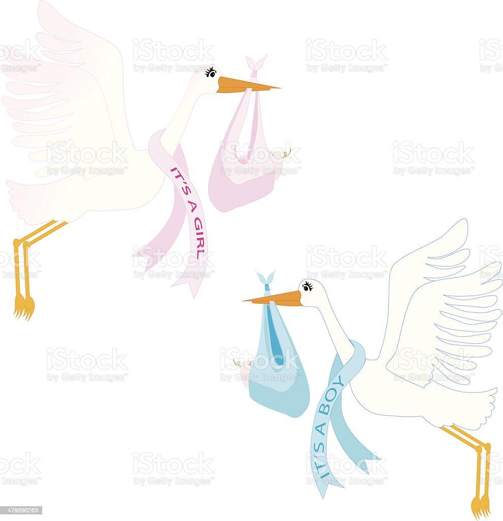 Storks royalty-free stock vector art