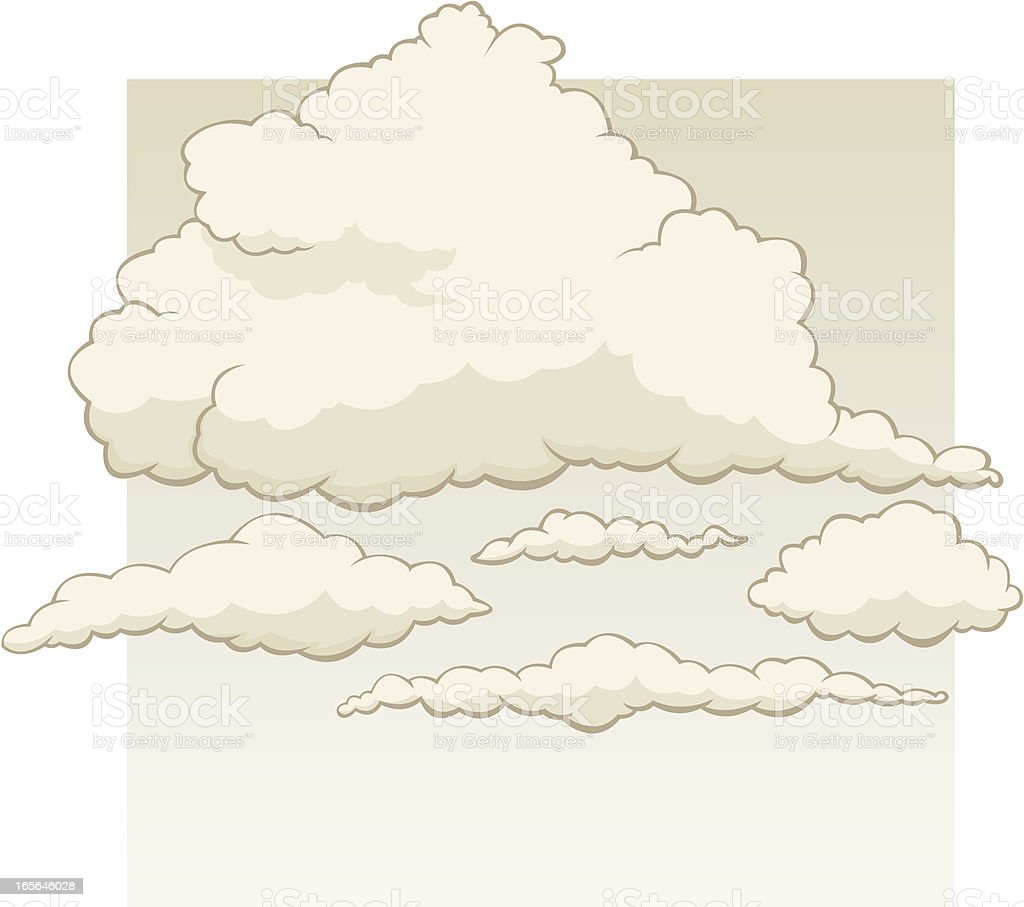 Storm clouds in a stormy sky vector art illustration