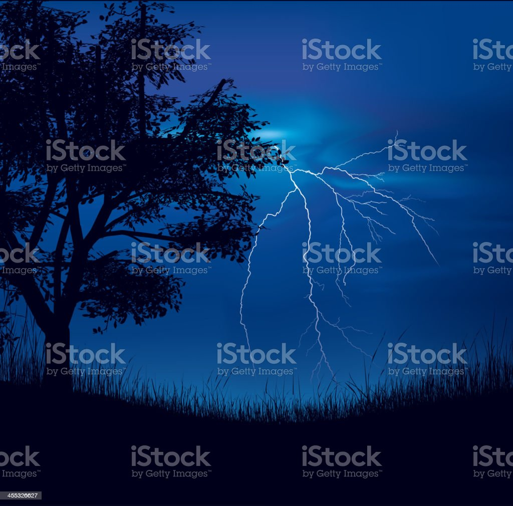 Storm Field royalty-free stock vector art