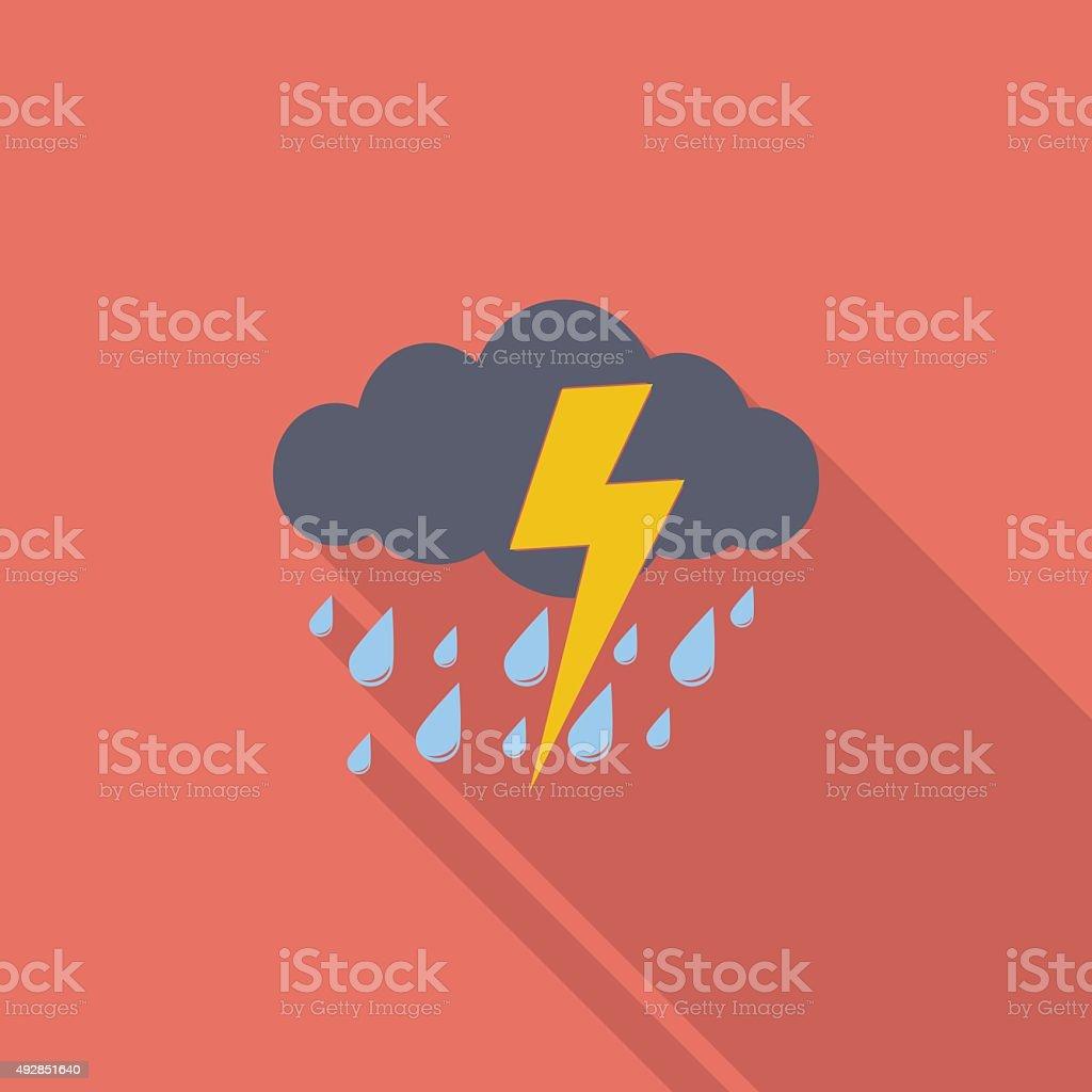 Storm icon vector art illustration
