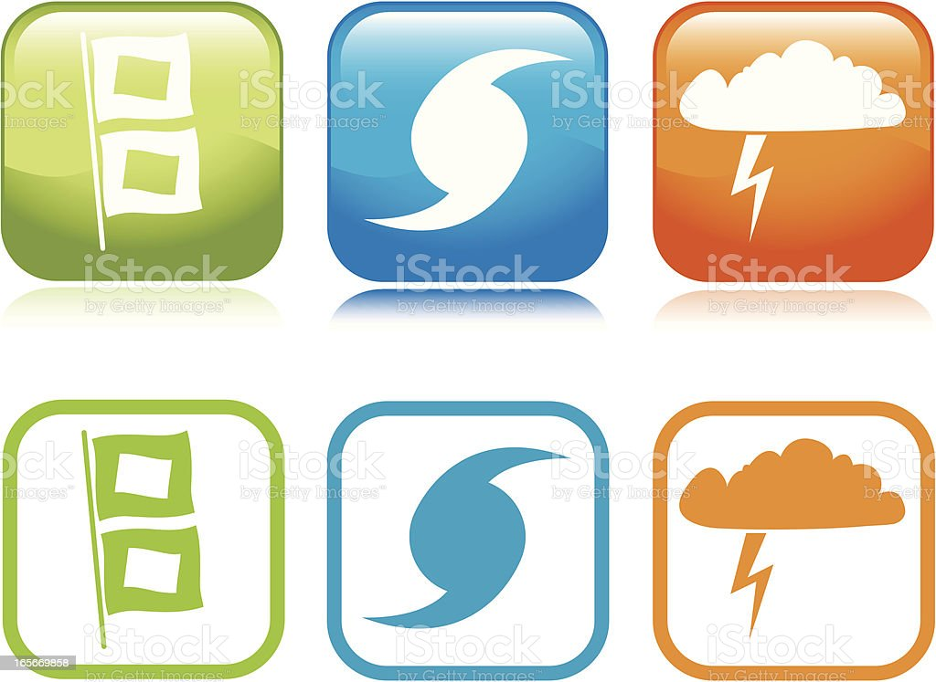 Storm Icons vector art illustration