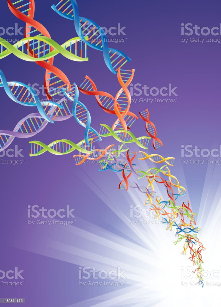 DNA storm royalty-free stock vector art