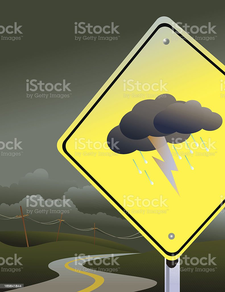 Stormy road ahead royalty-free stock vector art