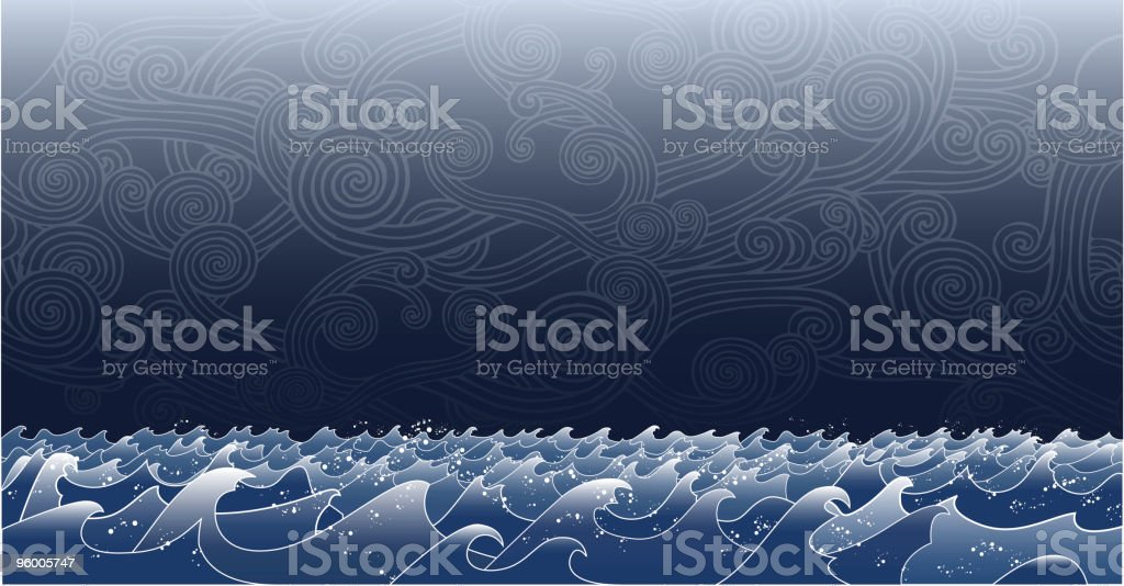 Stormy Seas royalty-free stock vector art