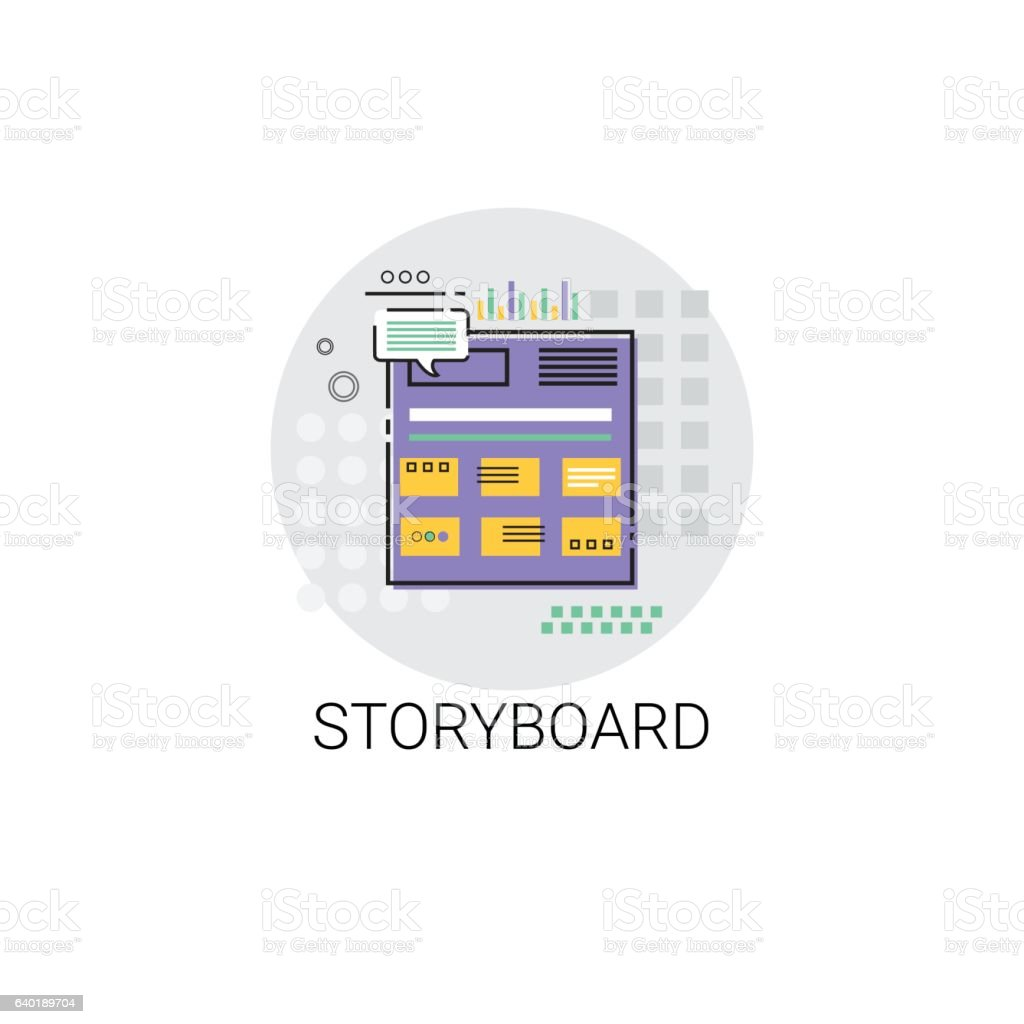 Story Board Camera Film Production Industry Icon vector art illustration