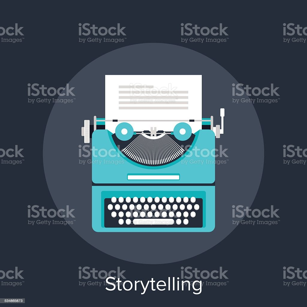 Storytelling vector art illustration