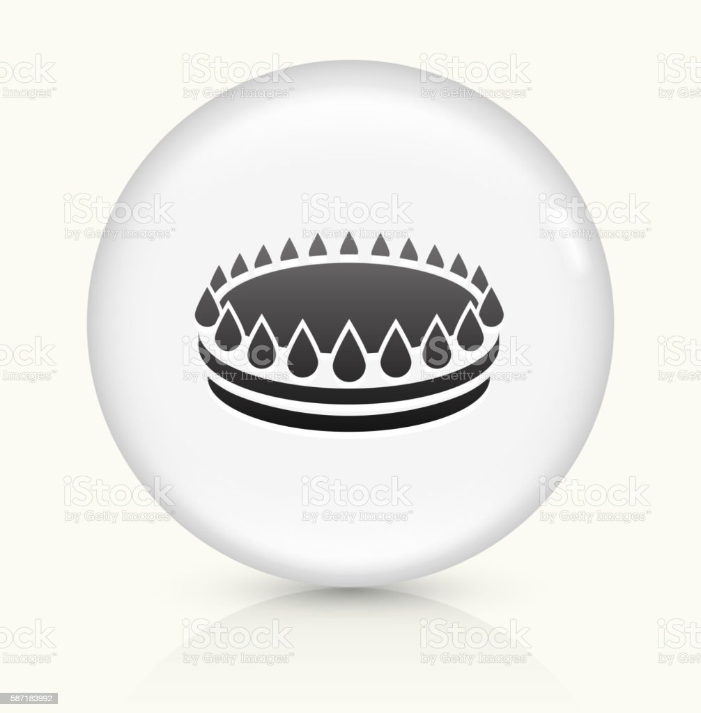 Stove Fire icon on white round vector button vector art illustration