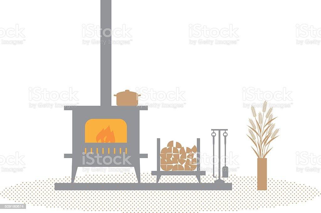 stove vector art illustration