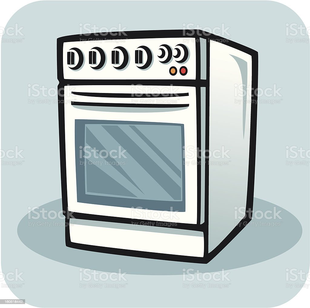 Stove-Cooker royalty-free stock vector art