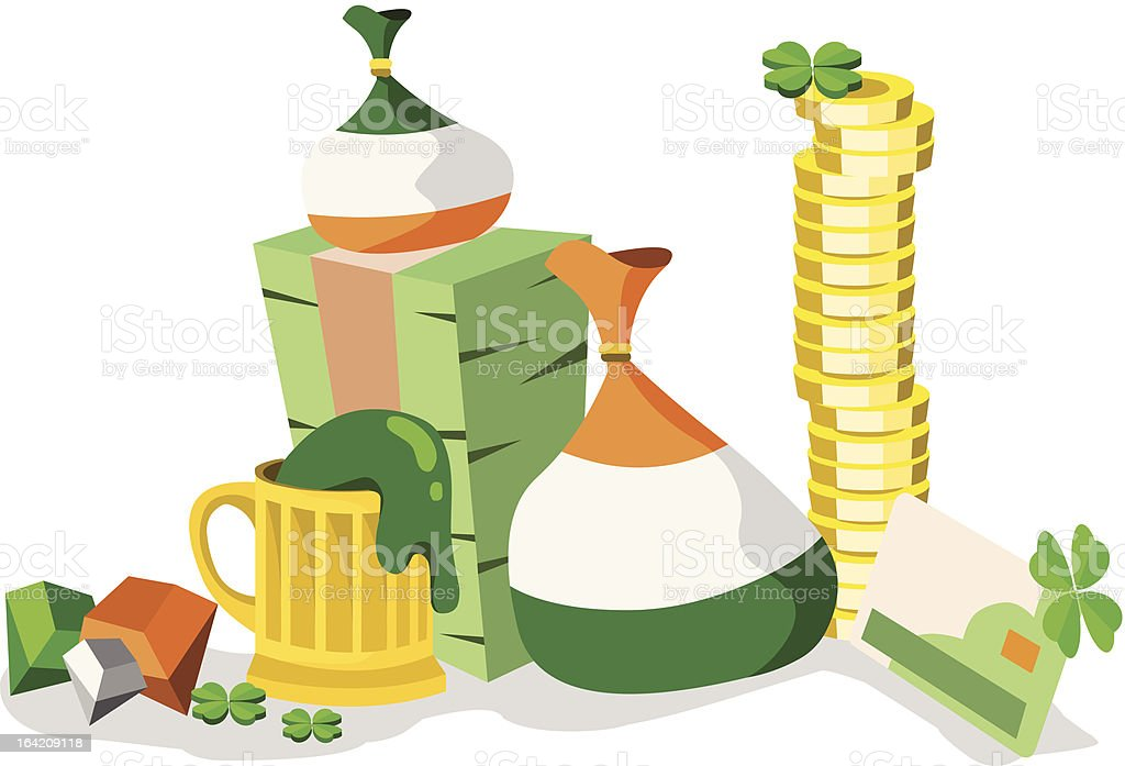 St.Patrick's Day Icons With Plenty Of Green royalty-free stock vector art