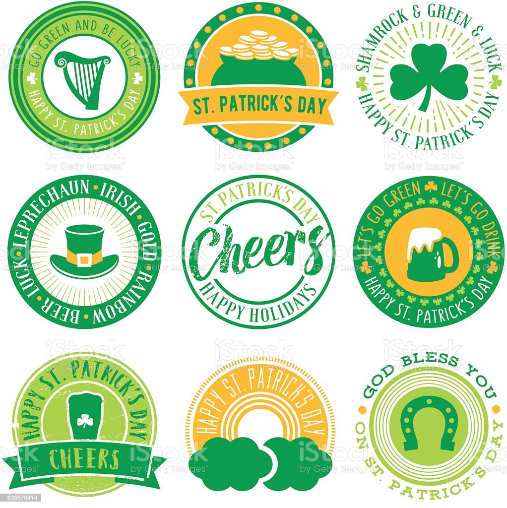 St.Patrick's Day Vector Seals vector art illustration