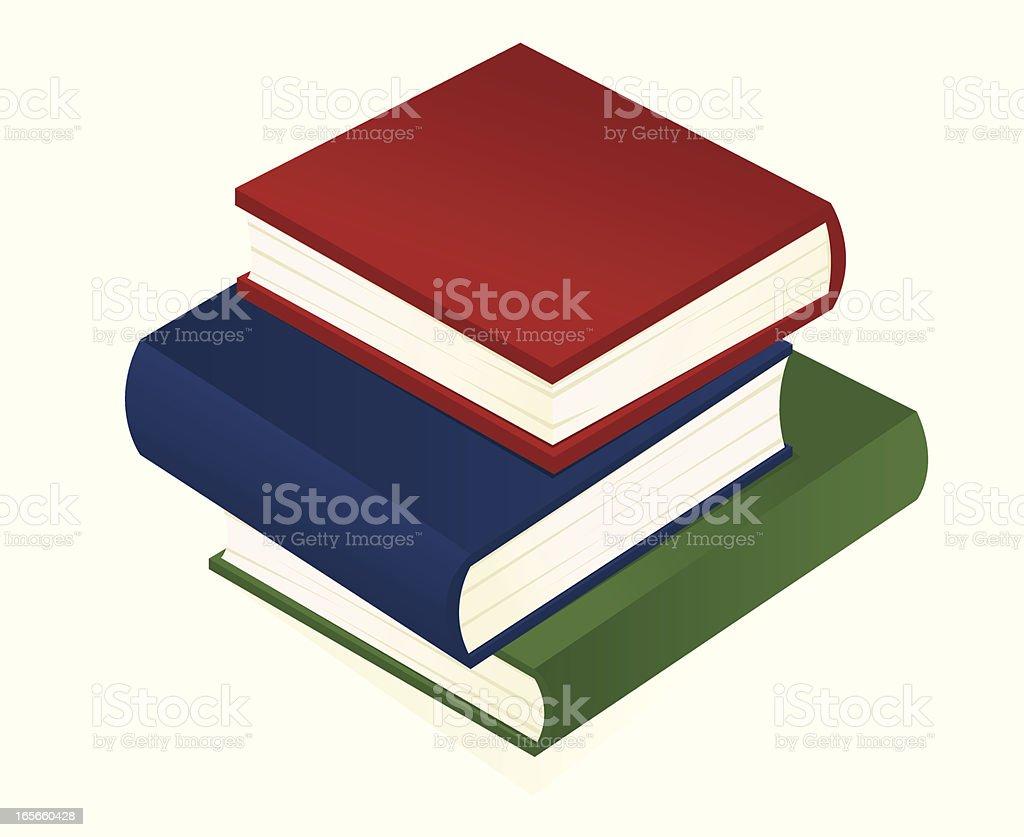 Strack of Books vector art illustration