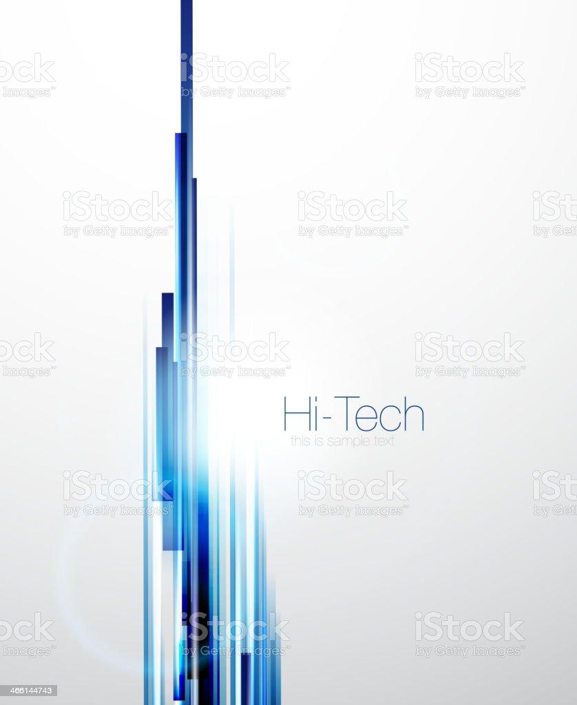 Straight blue lines hi-tech background vector art illustration