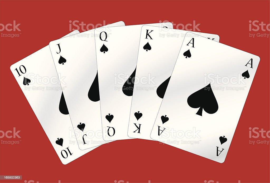 straight of spades vector art illustration