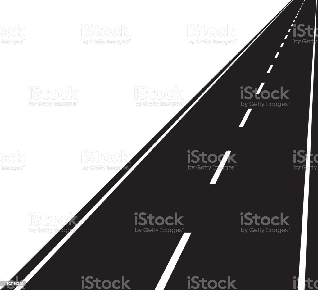 Straight road vector art illustration
