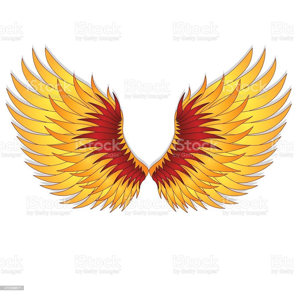 Straighten wings of the phoenix. royalty-free stock vector art