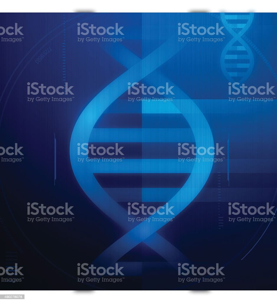 DNA Strand Background vector art illustration